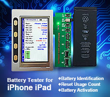 Battery Tester for iPhone 4-7 Plus iPad 3-6 mini 1-4