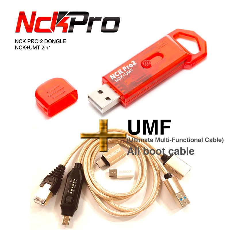 NCK PRO 2 Dongle(NCK+UMT 2in1 ) + UMF Cable (Ultimate Multi