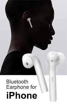 Fun 7 Twins Bluetooth Earbuds Bluetooth Earphone for iPhone Andriod White