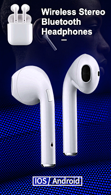 Wireless Stereo Bluetooth Headphones White