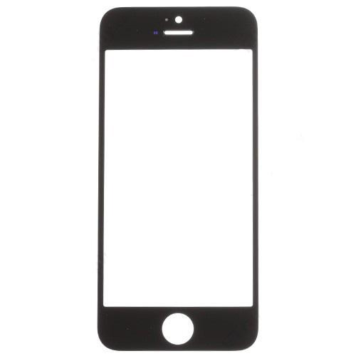 Glass Lens for iPhone 5S Black