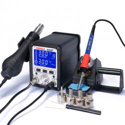YIHUA 995D+ 2 in 1 Intelligent Liquid Crystal Display High Power Hot Air Desoldering Station 220V
