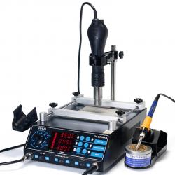 YIHUA-853AAA 3 in 1 Soldering Iron+Hot Air Gun+Preheating Station BGA Hot Air Desoldering Station 220V