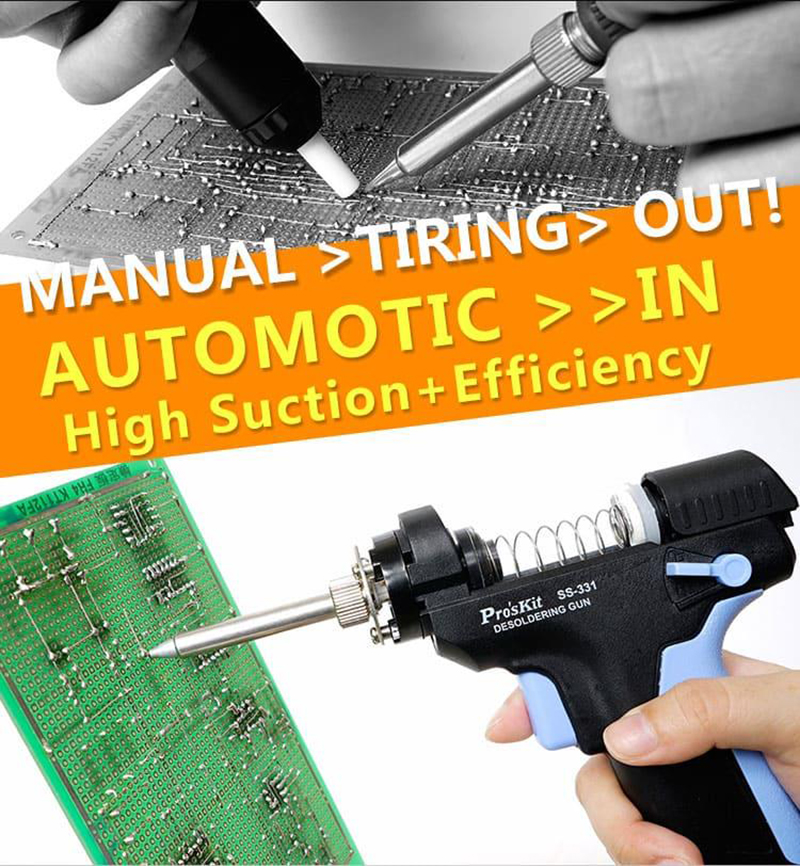 Pro'sKit SS-331H High Power Electric Desoldering Gun for PCB Circuit